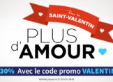 Code promotionnel pour la Saint valentin