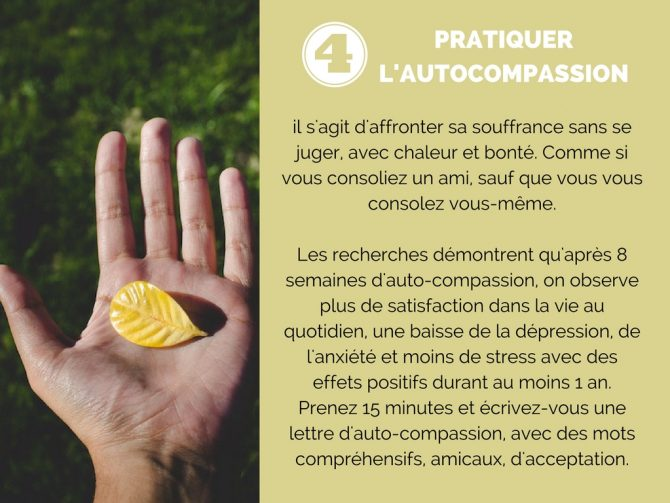 Pratique l'auto compassion